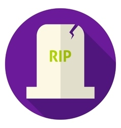 Rip tombstone circle icon vector