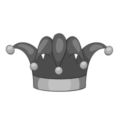 Clown hat icon gray monochrome style vector