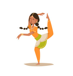 Indian woman dancing isolated dancers vector