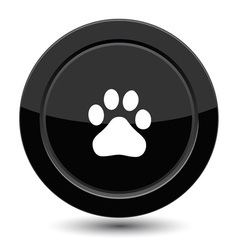 Button with trail foot vector
