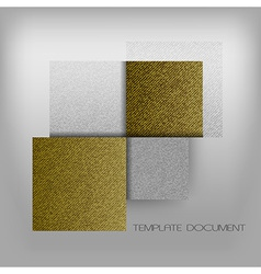 Business four squares gold with text grain vector