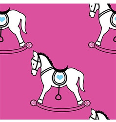 Rocking horse wallpaper vector