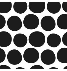 Hand drawn black and white seamless pattern vector