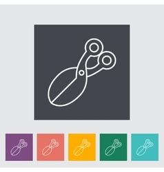 Scissors icon flat icon vector