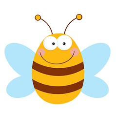 Bee Cartoon Character vector image vector image