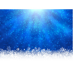 Blue winter backround vector