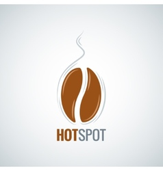 Coffee bean design menu background vector