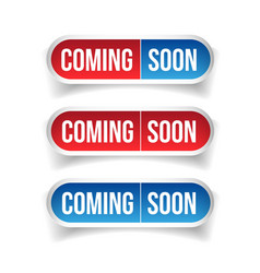Coming Soon button sign vector image vector image