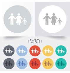 Complete family with one child sign icon vector image vector image