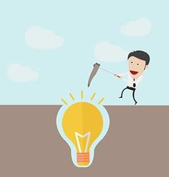 Dig the idea concept vector