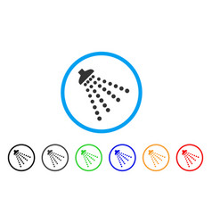 Disinfection shower rounded icon vector