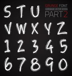 Grunge hand made font vector