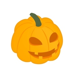 Halloween pumpkin isometric 3d icon vector