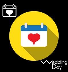 Icon of Wedding Day in a calendar vector image vector image