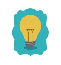 Isolated light bulb inside frame design vector