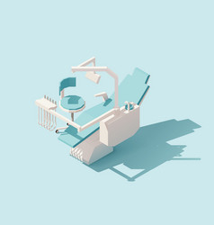 isometric low poly dental chair vector image vector image