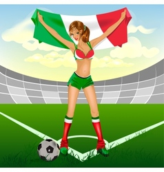 Italy girl soccer fan vector