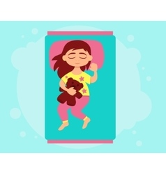 Little girl sleeping vector image
