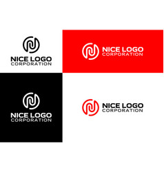 logo with the letter n vector image vector image