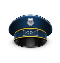 postmans cap vector image vector image