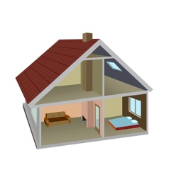 Rural home vector image