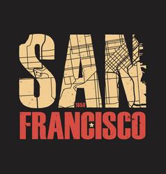 san francisco california tee print vector image vector image