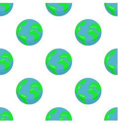 seamless pattern with earth planet vector image