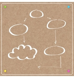 Template cork board with balloons vector
