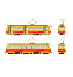 Tram number one vector image