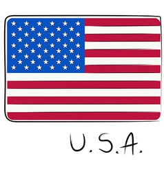 USA flag doodle vector image vector image