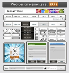 web design white vector image vector image