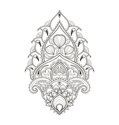 Floral leaf lotus indian paisley ornament in vector