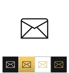 Envelope business letter or email line vector