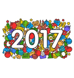 New year 2017 pattern trend vector