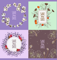 Save the date 2x2 design concept vector