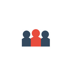 Flat icon audience element of vector