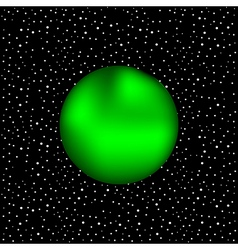 Planet in space vector
