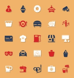 Franchisee business classic color icons with vector