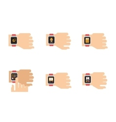 Smartwatch icons of smart vector