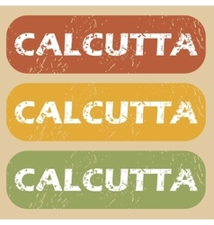 Vintage calcutta stamp set vector