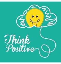 Think postive design vector