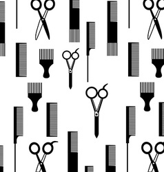 Hairdressing equipment design vector