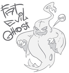 Fat evil ghost vector