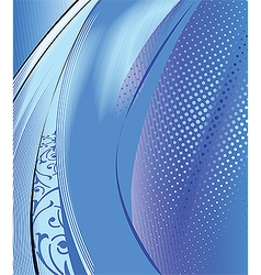 Abstract blue composition background vector