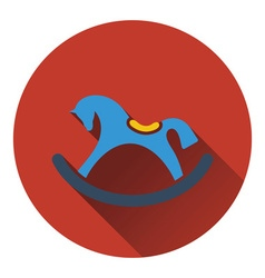 Rocking horse icon vector
