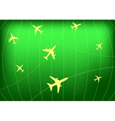 airplane routes vector image vector image