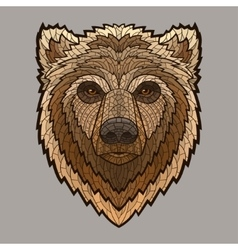 Bear head in mosaic style vector image vector image