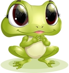 Beautiful frog with big eyes vector