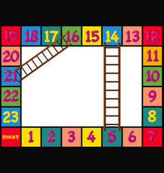 Boardgame design with colorful blocks and ladders vector