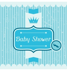 Boy baby shower invitation card vector image vector image